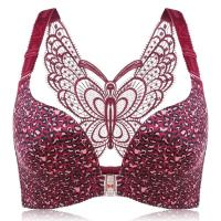 Butterfly Embroidery Front Closure Wireless...